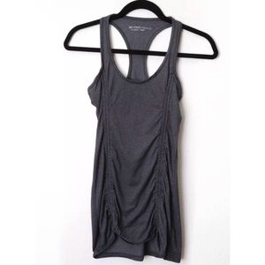 Beyond Yoga Gray Ruched Workout Tank Top